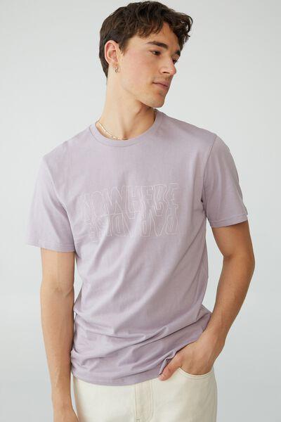 Tbar Street T-Shirt, HAPPY LAVENDER/NOWHERE PARADISE