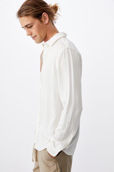 Cayman Long Sleeve Shirt, WHITE