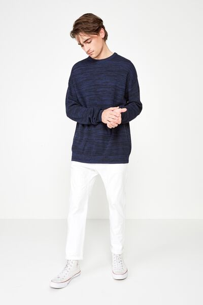 Lightweight Crew Sweater, BLUE TWIST