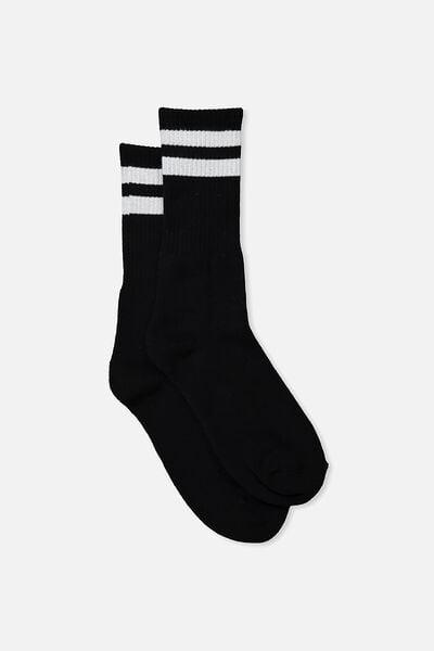 Essential Active Sock, SPORT STRIPE/BLACK
