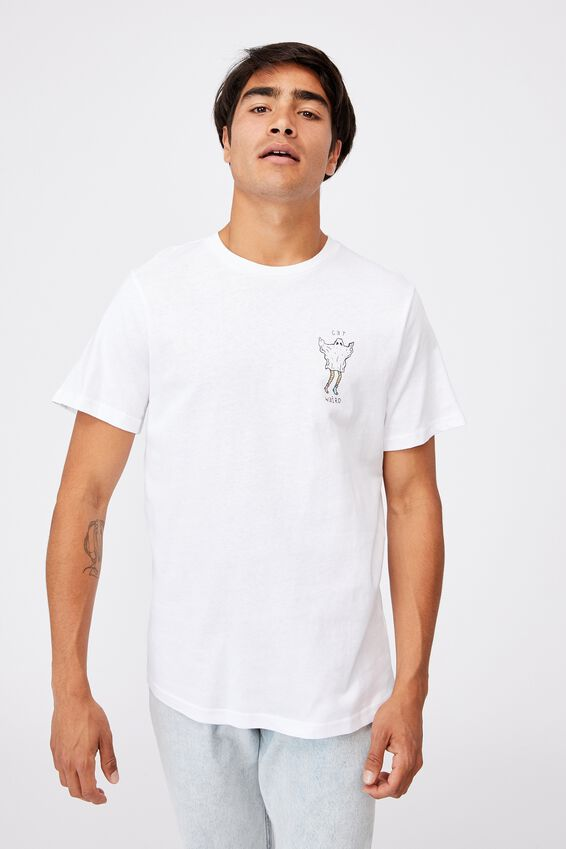 Tbar Art T-Shirt, WHITE/GET WEIRD