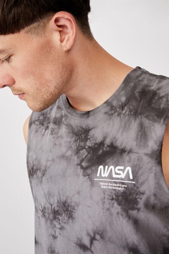Longline Scoop Muscle, LCN NAS VINTAGE WHITE/NASA - LOGO TIE DYE