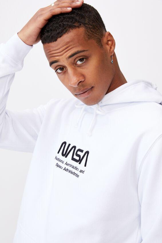Collab Fleece Pullover, LCN NAS WHITE/NASA LOGO