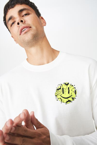Tbar Long Sleeve, VINTAGE WHITE/ITS ALL GOOD