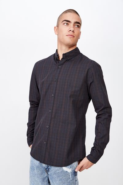 Brunswick Shirt 3, PRINCE OF WALES BLACK CHECK