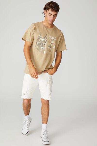 Tbar Art T-Shirt, GRAVEL STONE/GERMAN SHEPHERD