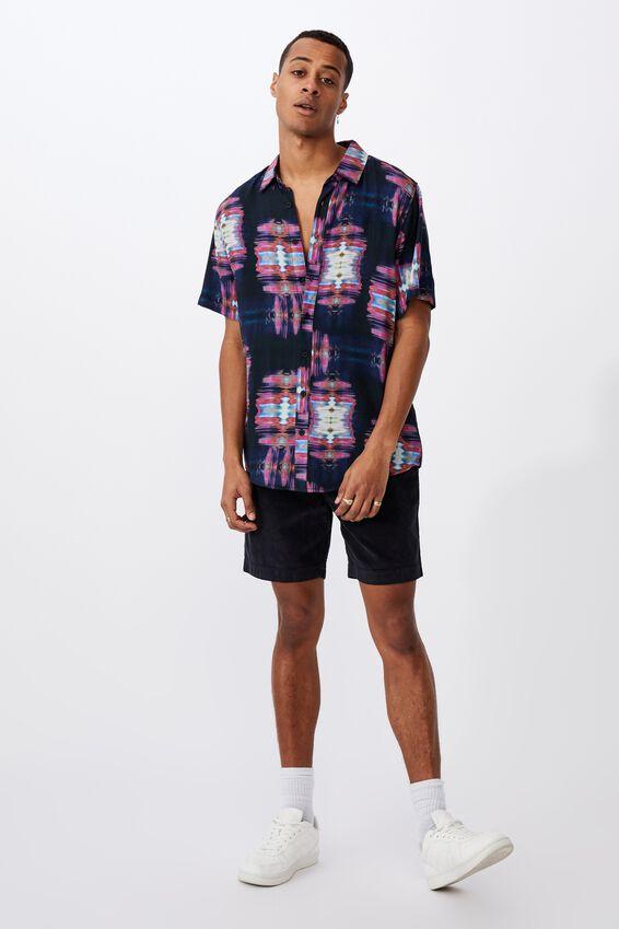 91 Short Sleeve Shirt, GLITCH SQUARES