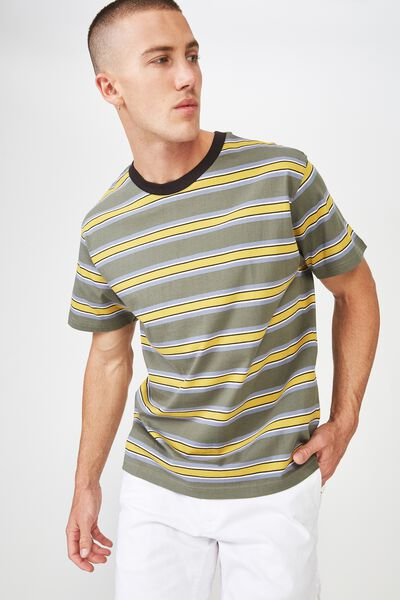 Dylan Tee, BUSH GREEN/BAMBOO YELLOW/HAPPY LAVENDER/SEA MIST/P