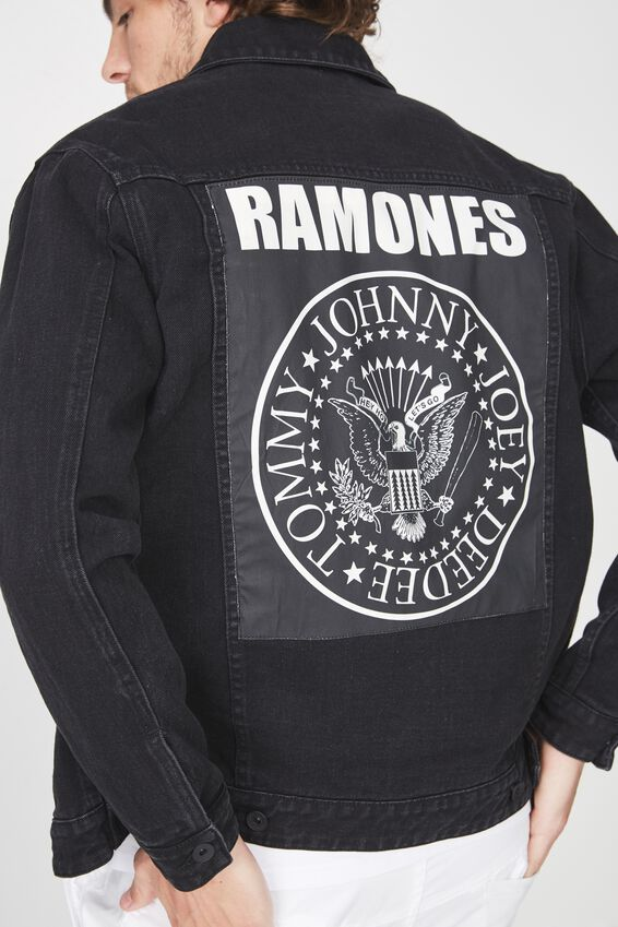 Ramones Denim Jacket, RAMONES/BLACK