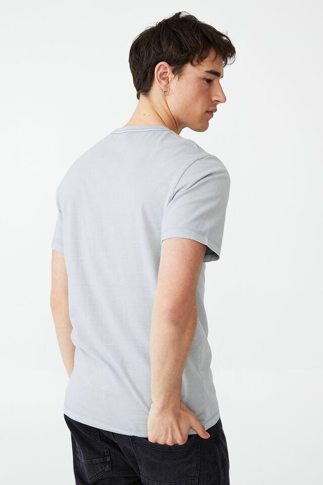 Organic Crew T-Shirt, BLUE HAZE