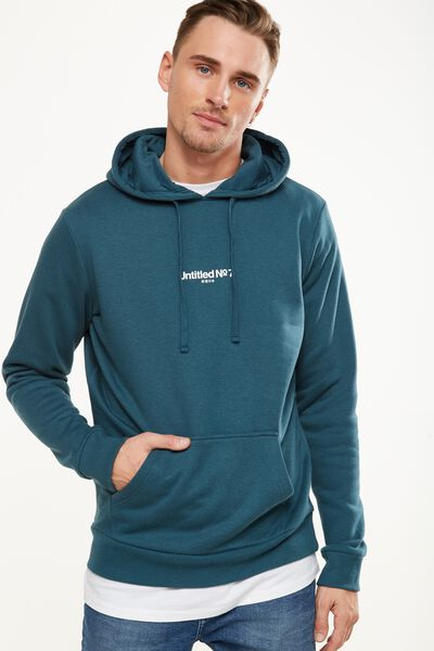 Fleece Pullover 2, DARK TEAL/UNTITLED NO 7