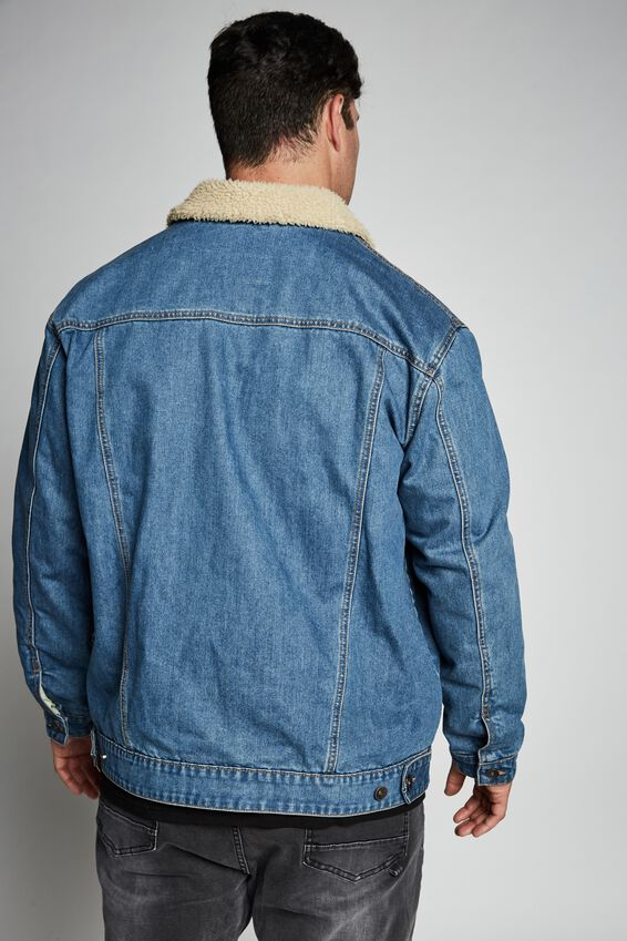 Nu Sherpa Collar Rodeo, WASHED BLUE
