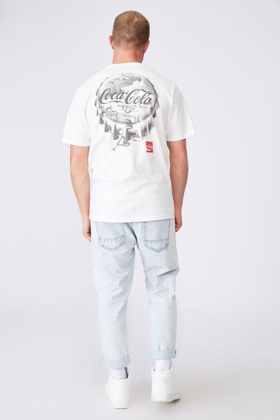 Tbar Collab Pop Culture T-Shirt, LCN CC VINTAGE WHITE/COCA COLA - BOTTLE CAP