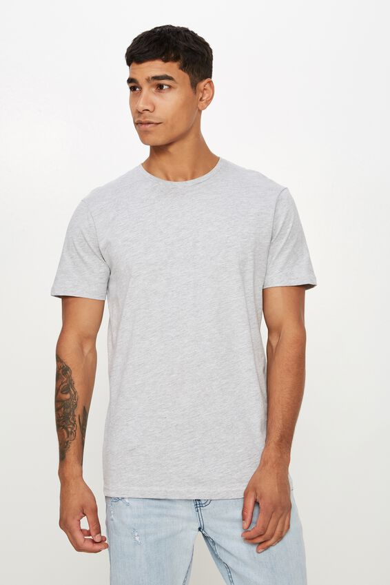 Essential Crew Tee, LIGHT GREY MARLE