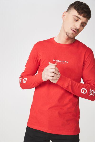 Tbar Long Sleeve, STRONG RED/HARAJUKU GOODS