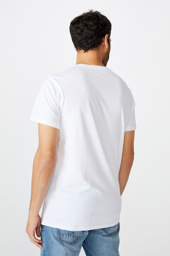 Personalised Crew Tee, WHITE