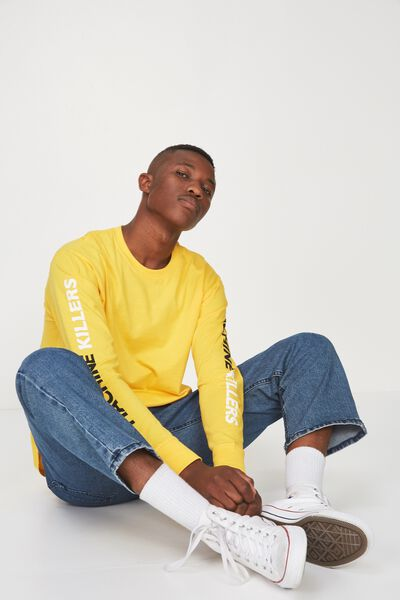 Tbar Long Sleeve, SAFETY YELLOW/MACHINE KILLERS