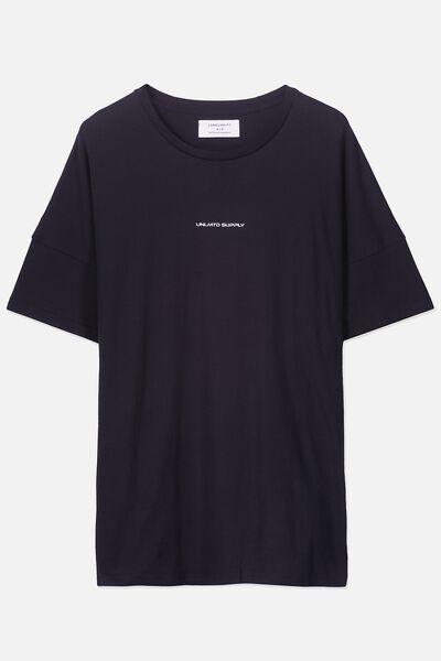 Drop Shoulder Longline, BLACK/UNLMTD SUPPLY PANELS