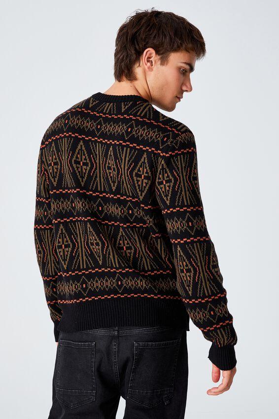 Vintage Multi Knit, BLACK PATTERN