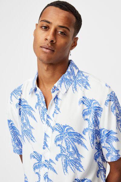 Short Sleeve Resort Shirt, BLUE ISLAND TIMES
