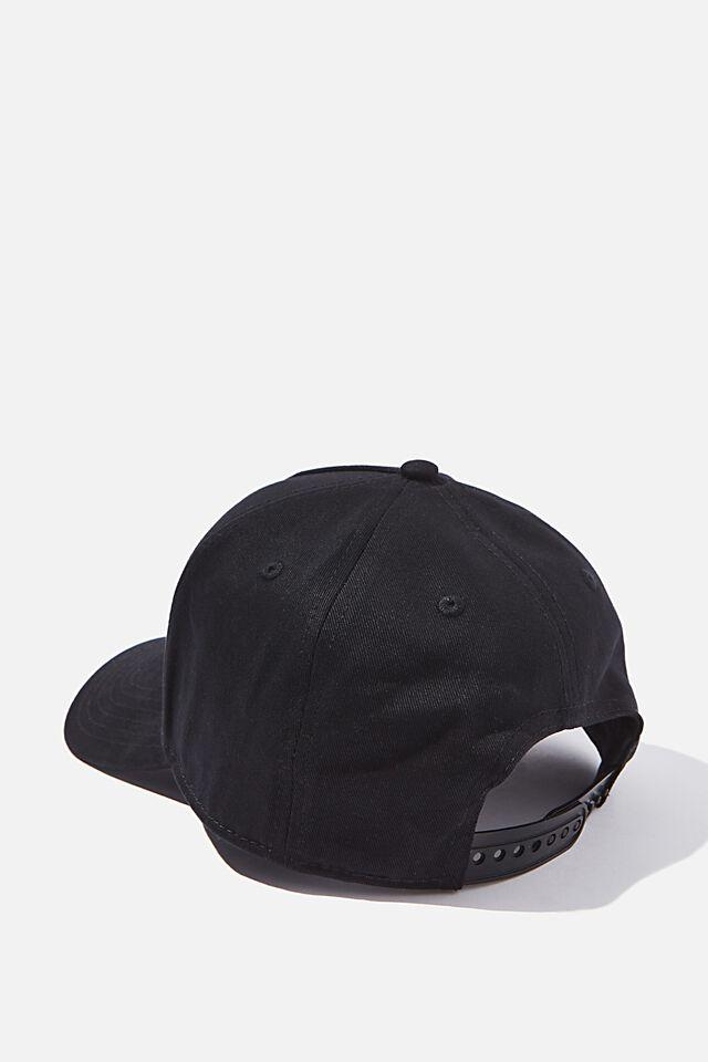 Curved Peak Snapback, BLACK/BLACK/NYC
