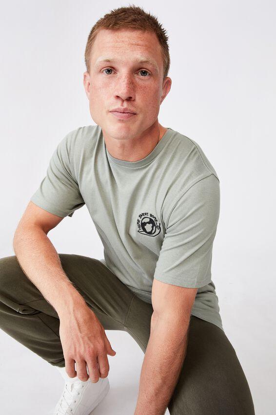 Tbar Art T-Shirt, ANTIQUE GREEN/HOME SWEET HOME
