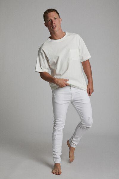 Super Skinny Jean, WHITE + RIPS
