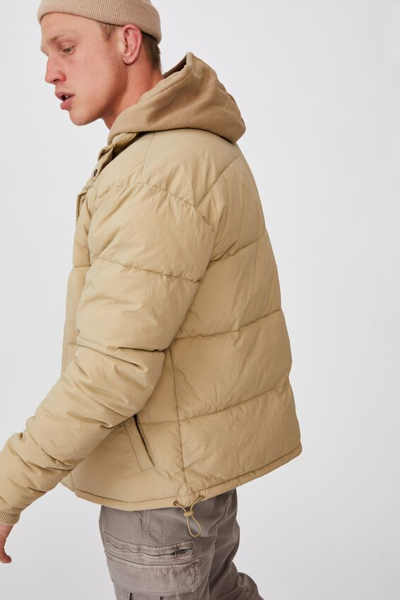 Essential Recycled Puffer, TAN