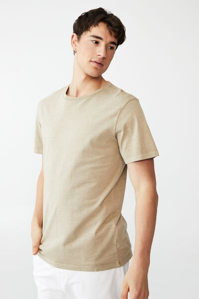 Organic Crew T-Shirt, GRAVEL STONE