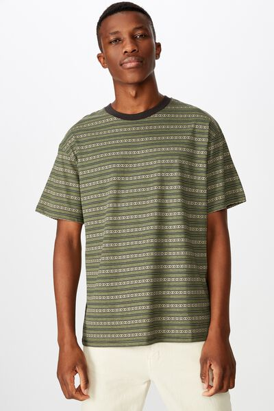 Dylan Tee, BUSH GREEN/WASHED BLACK/PALE SAND/MOSS STONE/JACQU