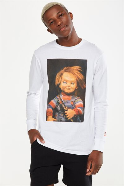 Tbar Collaboration Ls Tee, LC WHITE/SMILING CHUCKY