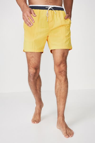 Swim Short, YELLOW/NAVY TIP