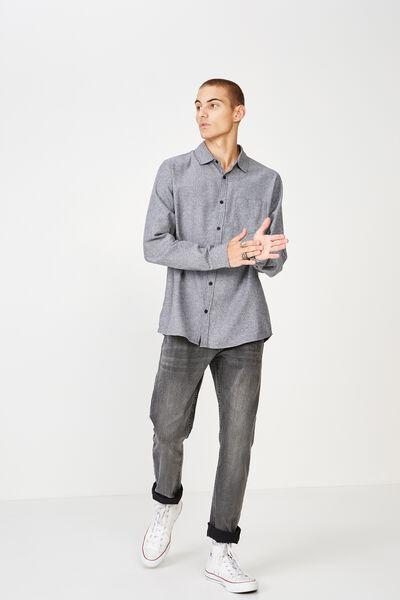 Rugged Long Sleeve Shirt, BLACK