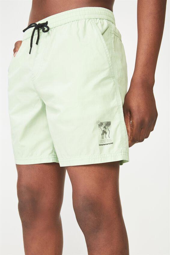 Kahuna Short, SPRAY GREEN / LEG PRINT