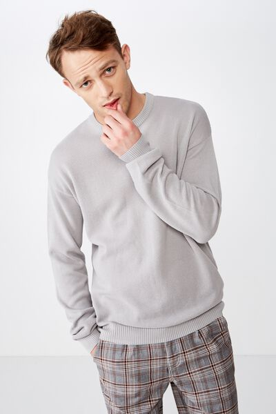 Lightweight Crew Sweater, LIGHT GREY