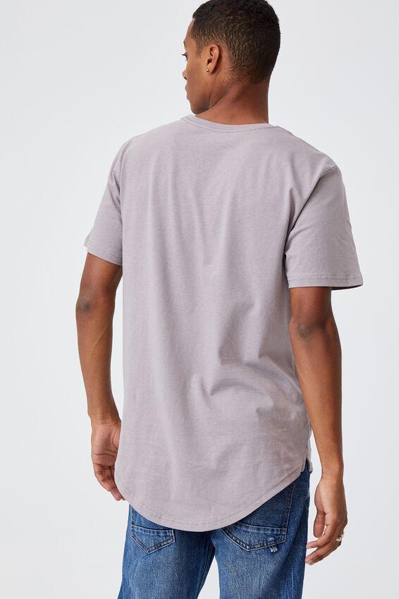 Essential Longline Scoop T-Shirt, WASHED BRICK