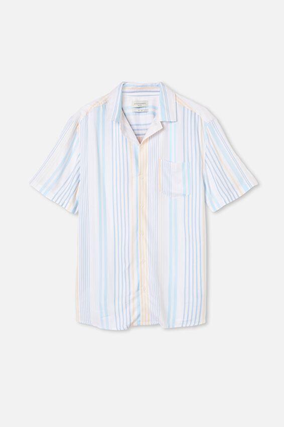 Textured Short Sleeve Shirt, MULTI STRIPE