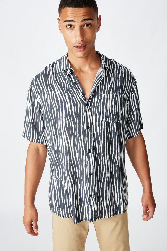 91 Short Sleeve Shirt, VERT TRIBAL
