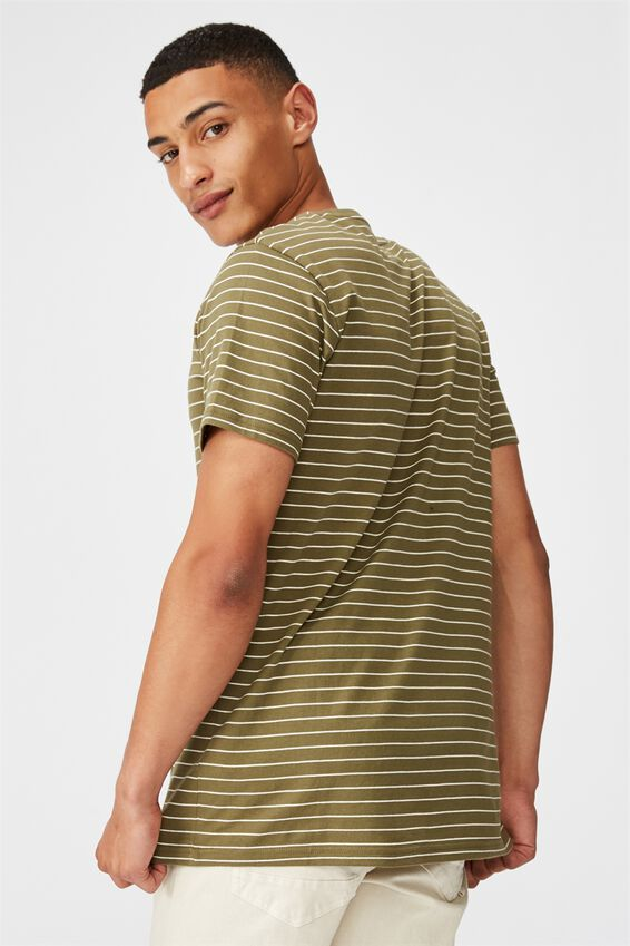 Tbar Premium T-Shirt, JUNGLE KHAKI/VINTAGE WHITE/TRIPLE STRIPE