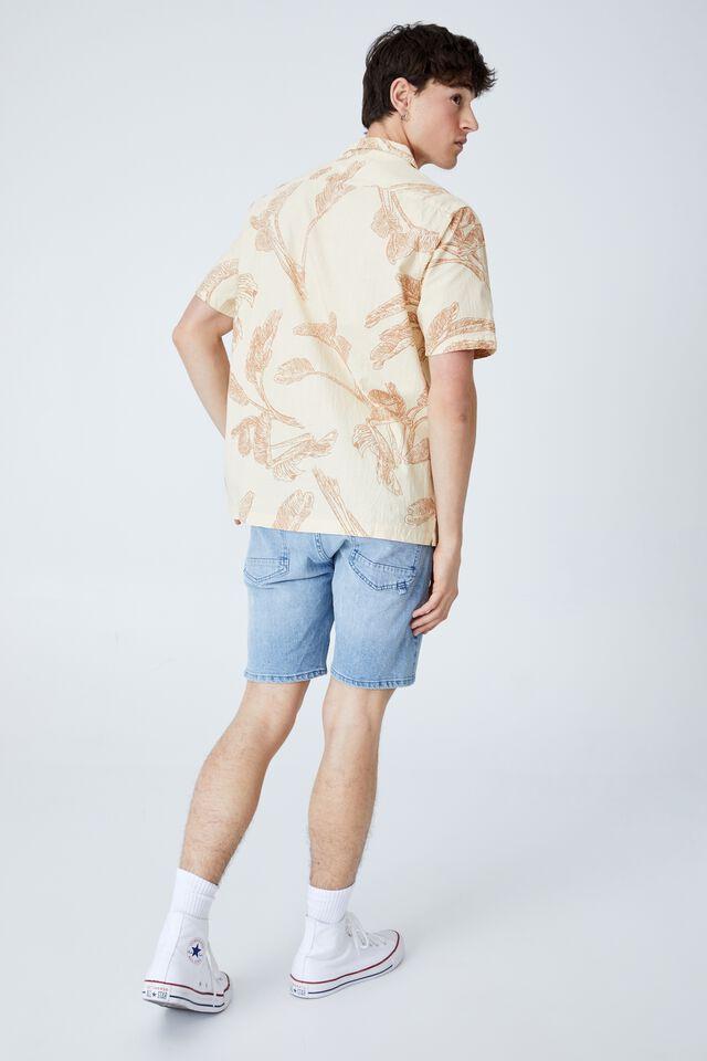 Riviera Short Sleeve Shirt, BISQUE 70 S FOLIAGE