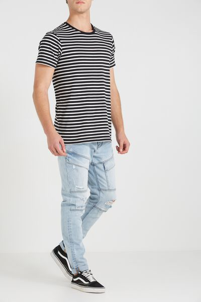 Tapered Leg Jean, VALLEY BLUE CARGO BIKER