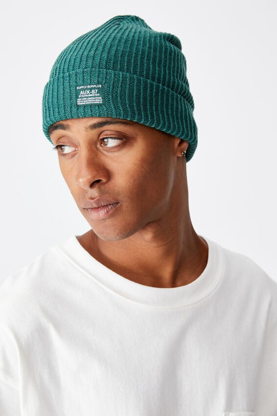Basic Ribbed Beanie, BAYBERRY/SUPPLY SURPLUS