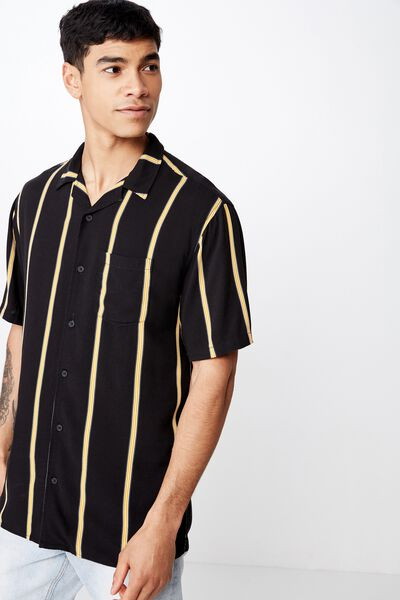 Festival Shirt, BLACK HONEY STRIPE