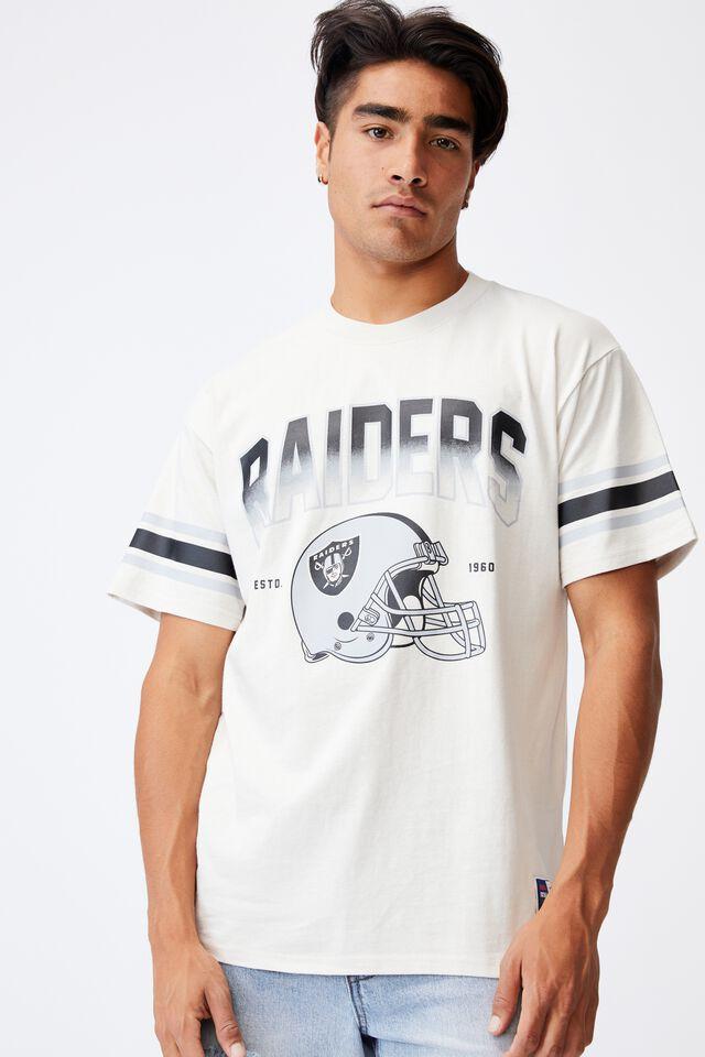 Active Collab Oversized T-Shirt, LCN NFL BONE/NFL - RAIDERS HELMET FADE