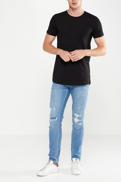 Slim Fit Jean, EXPOSURE MID BLUE + RIPS