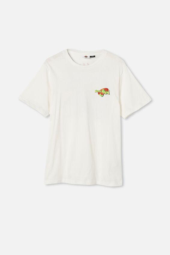 Tbar Collab Movie And Tv T-Shirt, LCN WB VINTAGE WHITE SPACE JAM - NERDLUCKS