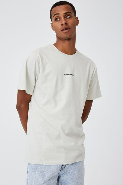Tbar Text T-Shirt, IVORY/PARADISE INC