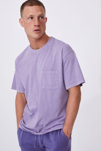 Washed Pocket T-Shirt, VIOLET DAZE