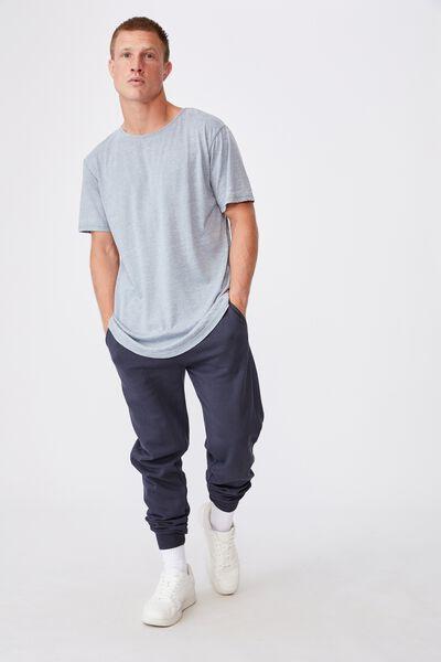 Longline Scoop Burnout T-Shirt, CITADEL