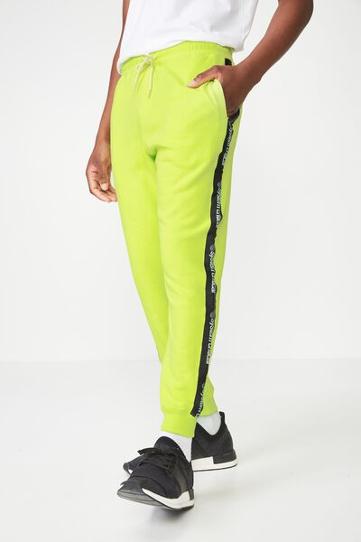 Trippy Slim Trackie, NEON LIME / BLACK SYSTEM CRITICAL